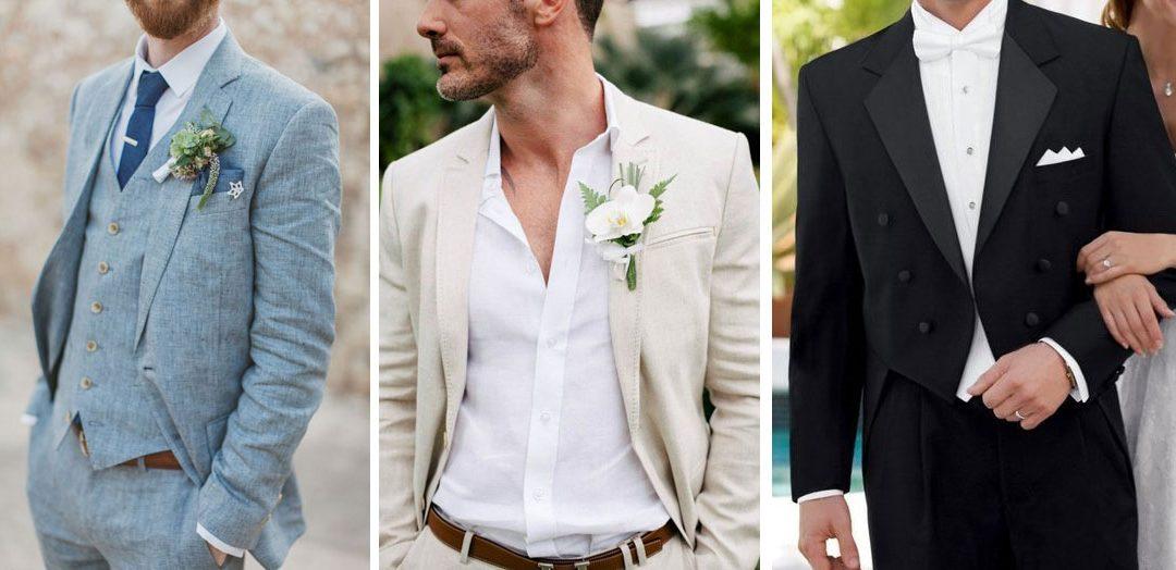 Distintas opciones para elegir el traje de novio