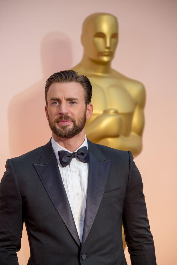 Novios con barba-Cuidados de la barba-Chris Evans-Oscar 2015