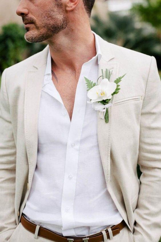 traje de novio casual