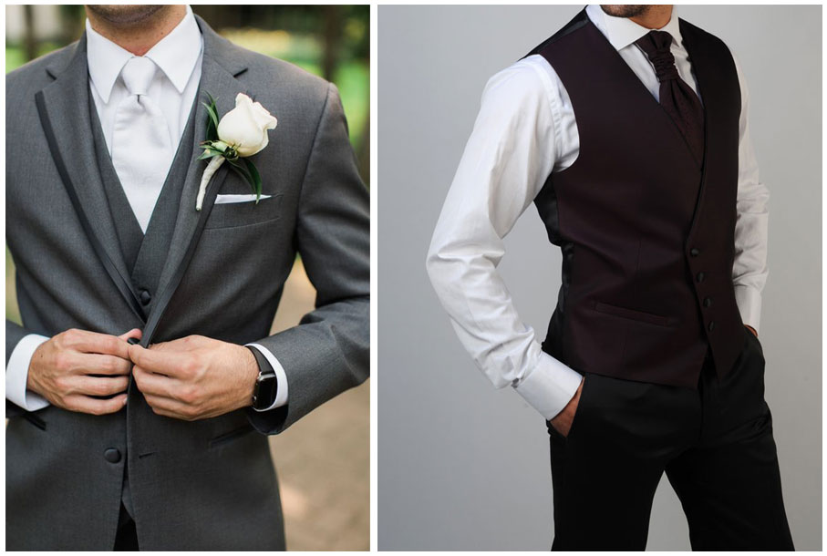 Cómo combinar el traje de novio con la camisa y corbata (II)